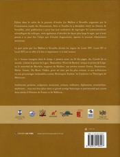 Les wallons à Versailles - 4ème de couverture - Format classique