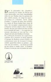 Songe D'Une Nuit De Printemps - 4ème de couverture - Format classique