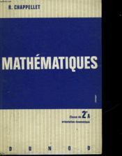 MATHEMATIQUES - classe de seconde - orientation économique - Couverture - Format classique