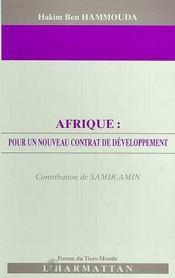 Afrique ; Pour Un Nouveau Contrat De Developpement - Intérieur - Format classique