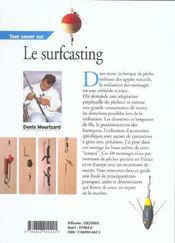 Tout Savoir Sur Le Surfcasting - 4ème de couverture - Format classique