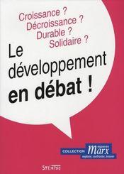 Le développement en débat - Intérieur - Format classique