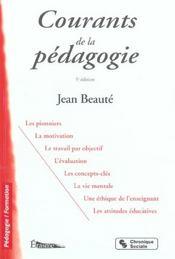 Courants De La Pedagogie Contemporaine - 5e Edition - Intérieur - Format classique