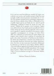 L'histoire de l'opéra - 4ème de couverture - Format classique