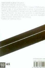 Nuit Chez Les Aissaouas (Une) - 4ème de couverture - Format classique