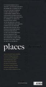 Places du monde - 4ème de couverture - Format classique