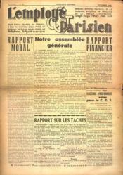 Employe Parisien (L') N°10 du 01/11/1938 - Couverture - Format classique