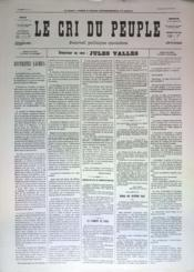 Cri Du Peuple (Le) N°32 du 02/04/1871 - Couverture - Format classique