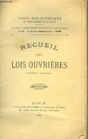 Recueil Des Lois Ouvrieres - Couverture - Format classique