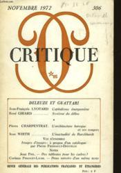 Critique - Couverture - Format classique