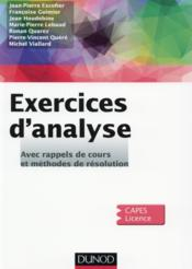 Exercices d'analyse  - Collectif