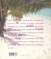 Recettes exotiques ; destination cocotiers - 4ème de couverture - Format classique