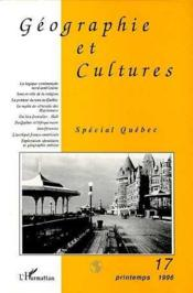 Geographie Et Cultures 17 Special Quebec - Couverture - Format classique