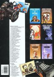 Spirou et Fantasio t.14 ; le prisonnier du Bouddha - 4ème de couverture - Format classique