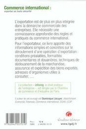 Aide Memoire De L'Exportateur - 4ème de couverture - Format classique