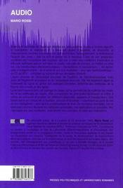 Audio - 4ème de couverture - Format classique
