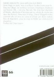 Julia Alpinula A La Trace - 4ème de couverture - Format classique