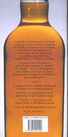 Single malt et whisky ecossais - 4ème de couverture - Format classique