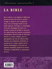 La bible ; histoire universelle - 4ème de couverture - Format classique