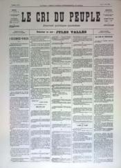 Cri Du Peuple (Le) N°33 du 03/04/1871 - Couverture - Format classique