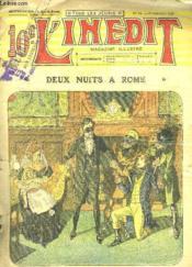 L Inedit N° 72 Du 25 Septembre 1913. Deux Nuits A Rome. - Couverture - Format classique
