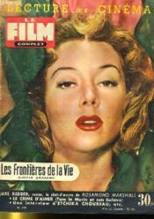 Lecture Et Cinema - Film Complet N° 519 - Les Frontieres De La Vie - Couverture - Format classique