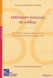 Litterature jeunesse au college – Alain Journaud – ACHETER OCCASION – 07/03/2001