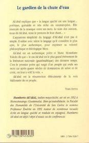 Le Gardien De La Chute D'Eau - 4ème de couverture - Format classique