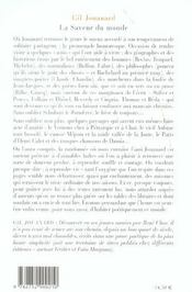 La Saveur Du Monde - 4ème de couverture - Format classique