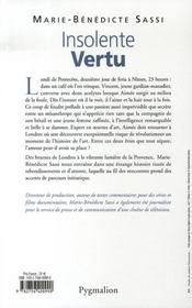 Insolente Vertu - 4ème de couverture - Format classique