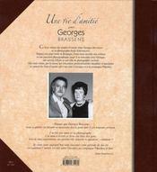 Une vie d'amitié avec Georges Brassens - 4ème de couverture - Format classique