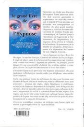 Le Grand Livre De L'Hypnose - 4ème de couverture - Format classique