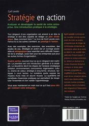Stratégie En Action - 4ème de couverture - Format classique