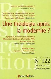 Revue Resurrection N.122 ; Une Théologie Après La Modernité ? - Intérieur - Format classique