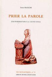 Prier La Parole - Couverture - Format classique