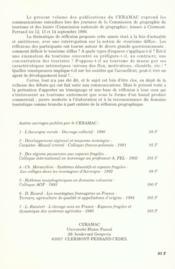 Le Tourisme Diffus. Colloque De Clermont-Ferrand, 12-14 Sept. 1995 - 4ème de couverture - Format classique
