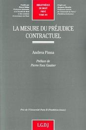 La mesure de préjudice contractuel t.491 - Intérieur - Format classique