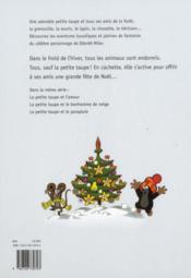 La petite taupe fête noël - 4ème de couverture - Format classique