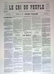 Cri Du Peuple (Le) N°34 du 04/04/1871 - Couverture - Format classique