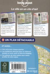 Paris en quelques jours (3e édition) - 4ème de couverture - Format classique