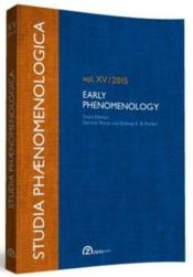 Vente livre :  Studia phaenomenologica t.15 ; early phenomenology (édition 2015)  - Collectif