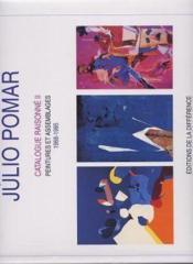 Pomar Catalogue Raisonne Ii 1968-1985 - Couverture - Format classique