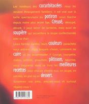 Potirons courges et autres cucurbitacees - 4ème de couverture - Format classique