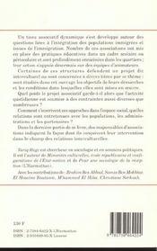 Acteurs De L'Integration: Les Associations Et Les Pratiques Educatives - 4ème de couverture - Format classique