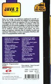 Java 2 - 4ème de couverture - Format classique