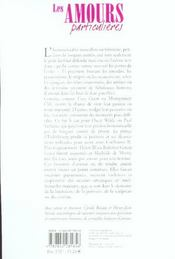 Les Amours Particulieres - 4ème de couverture - Format classique