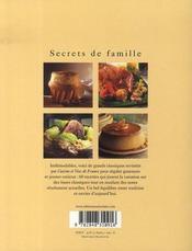 Secrets de famille - 4ème de couverture - Format classique
