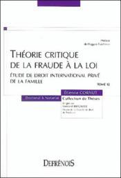 Theorie critique de la fraude a la loi - Couverture - Format classique