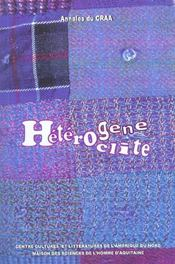 Heterogene et l'heteroclite dans la litt - Intérieur - Format classique
