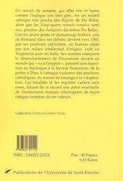 Jacques Grevin ; La Gelodacrye - 4ème de couverture - Format classique
